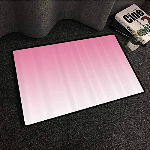 Ombre Bedroom Doormat Dreamy Light Pink Waterfall Inspired Modern Digital Print Girls Room Decorations All Season General W24 xL35 Light Pink