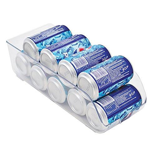 Mondex PLS271-00 Boîte de Rangement Réfrigérateur pour Canettes Plastique Transparent 35 x 14 x 10 cm