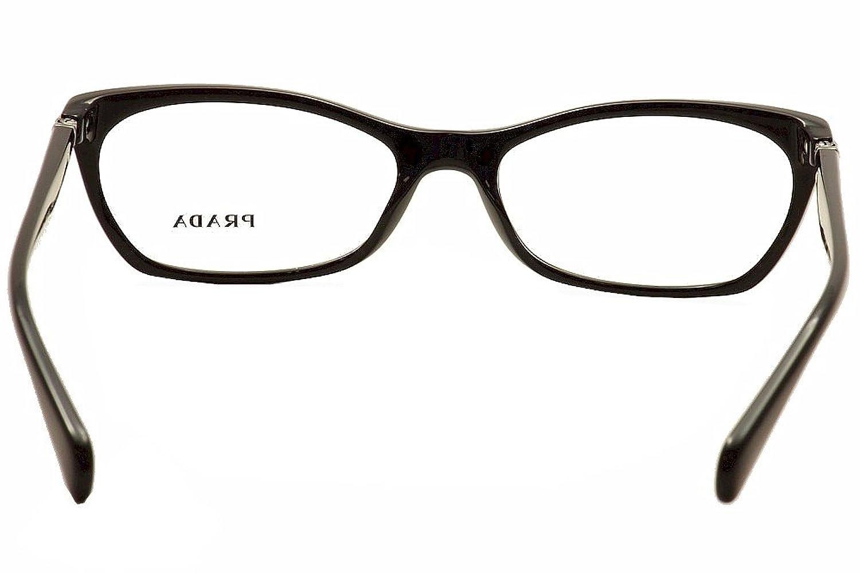 Amazon.com: Prada PR15PV Eyeglass Frames 1AB1O1-53 - Black PR15PV ...