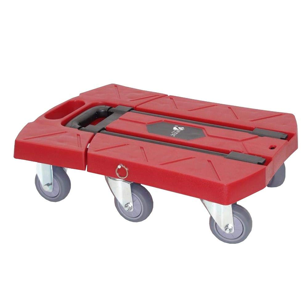 Folding Luggage Trailer Tablet Trolley Trolley Trolley Shopping cart can Bear 200kg, red by Hokaime