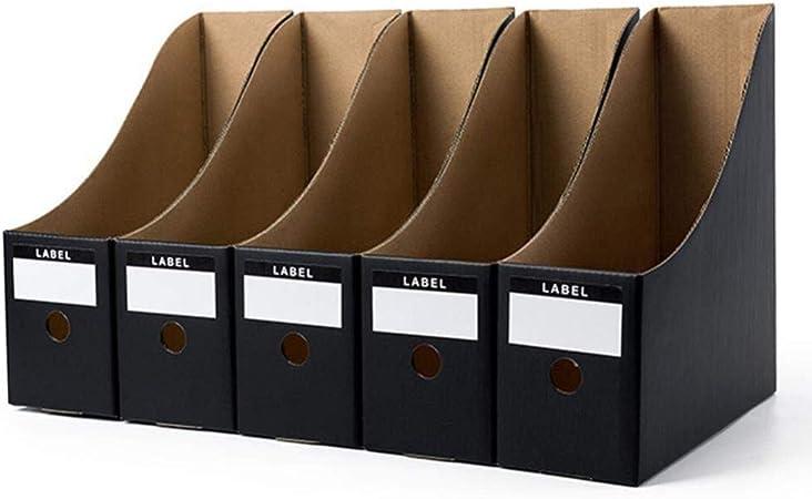YZERTLH Archivo portadocumentos 5 Unidades/Set Organizador de Papel Plegable revistero bolígrafo revistero Caja para Documentos Simple: Amazon.es: Hogar