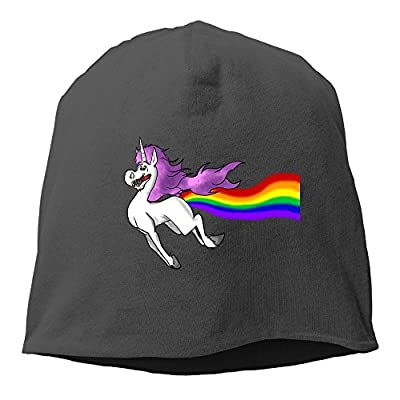 OHMYCOLOR Cool Unicorn Rainbow Mens Knit Beanies Hats For Womens Woolen Winter Adult Trucker Baseball Caps Snapback