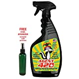 AGENT 420 - 22 oz Cannabis Odor Destroying Spray for Eliminating Pot Smoke, Cigarette Smoke or Most Unwanted Odors In Your House, Car or Apartment, So Freshen Up The