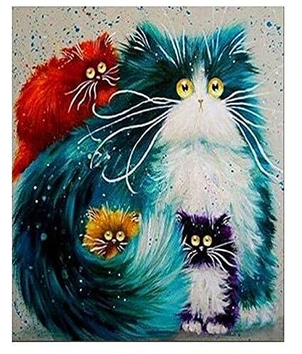 FidgetFidget - Kit de Pintura para Gatos con números para ...