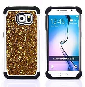 - glitter sparkly pattern bling/ H??brido 3in1 Deluxe Impreso duro Soft Alto Impacto caja de la armadura Defender - SHIMIN CAO - For Samsung Galaxy S6 G9200