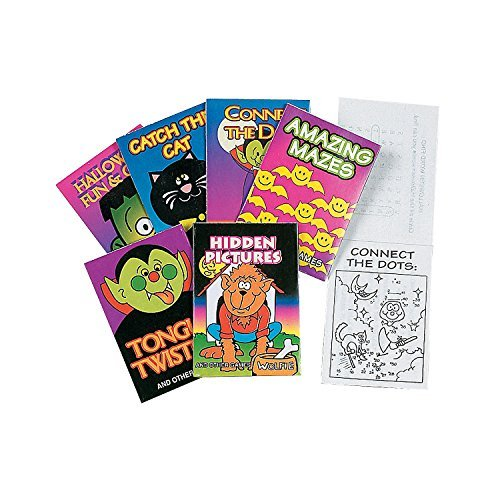 Halloween Fun & Game Party Favor Books -