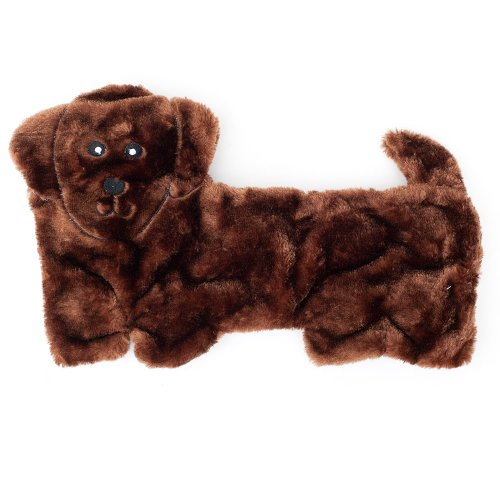 ZippyPaws - Squeakie Pup No-Stuffing Plush Dog Toy, 11 Squeakers - Dachshund (Toy Pug Dog)