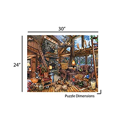 Springbok Puzzles - The Hunting Lodge - 1000 Piece Jigsaw Puzzle - Large 30 Inches by 24 Inches Puzzle - Made in USA - Unique Cut Interlocking Pieces: Toys & Games