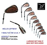 AGXGOLF; Men's Left Hand Tour Model Heater Edition Irons Set: 3-9 +PW + Free Sand Wedge: Cadet, Regular or Tall Lengths: Built in the U.S.A. Fast Shipping!,
