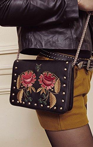 noir Sac Roze Black Roze Black noir Sac wg65Ex5q
