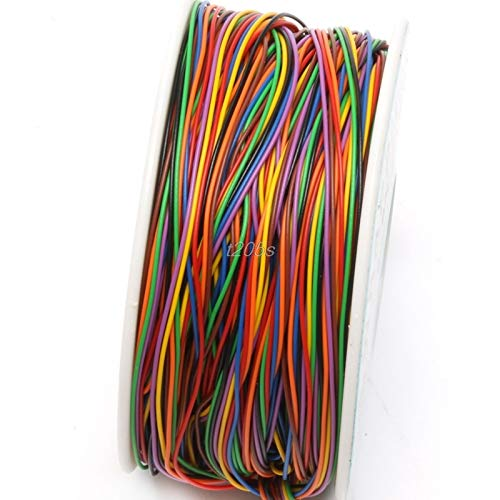 Uranus DC - One Roll 8 Colors 30AWG Wire Wrapping Wire, Tinned Copper Solid, PVC insulation T25