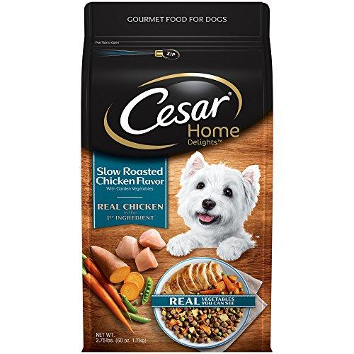 - Cesar Home Delights Dry Dog Food Slow Roasted Chicken Flavor With Garden Vegetables, 3.75 Lb. Bag