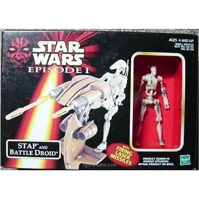 Phantom Menace Star Wars Episode 1 Stap and Battle Droid: Toys & Games
