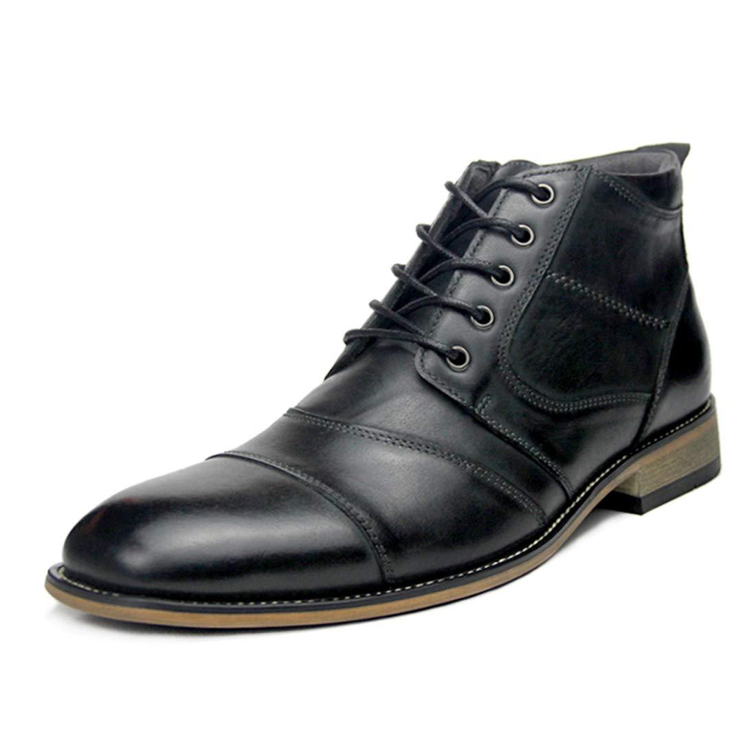 c8ef5a318b DANDANJIE Lederschuhe 2018 Winter britischen Stiefel warme Stiefelies Ankle  Stiefel (schwarz braun) halten Herren nrduip1895-Neue Schuhe