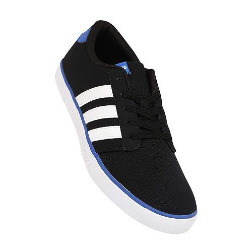 Buy Adidas Men's Black Canvas Sneakers
