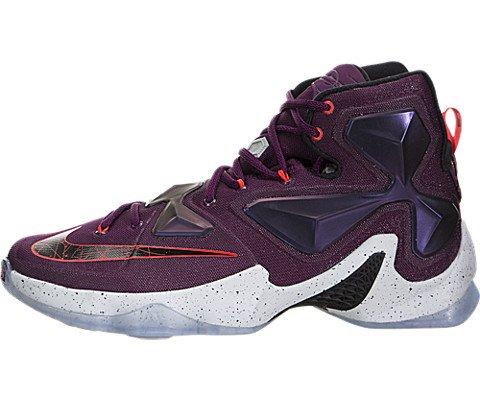 52f27e2ff2f1 Galleon - Nike Men s Lebron XIII Mulberry Blk Pr Pltnm Vvd Prpl Basketball  Shoe - 12 D(M) US