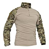 TACVASEN Camo T-Shirt Men Hunting Shirts Long...