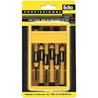 Chaves Torx de Precisão Eda Amarelo e Preto 6 Peças Torx