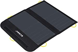 ECEEN Solar Charger Foldable Solar Panel Charge for iPhones, Smartphones, Tablets, GPS Units, Speakers, Gopro Cameras, and Other Devices (13W with Net Pocket)