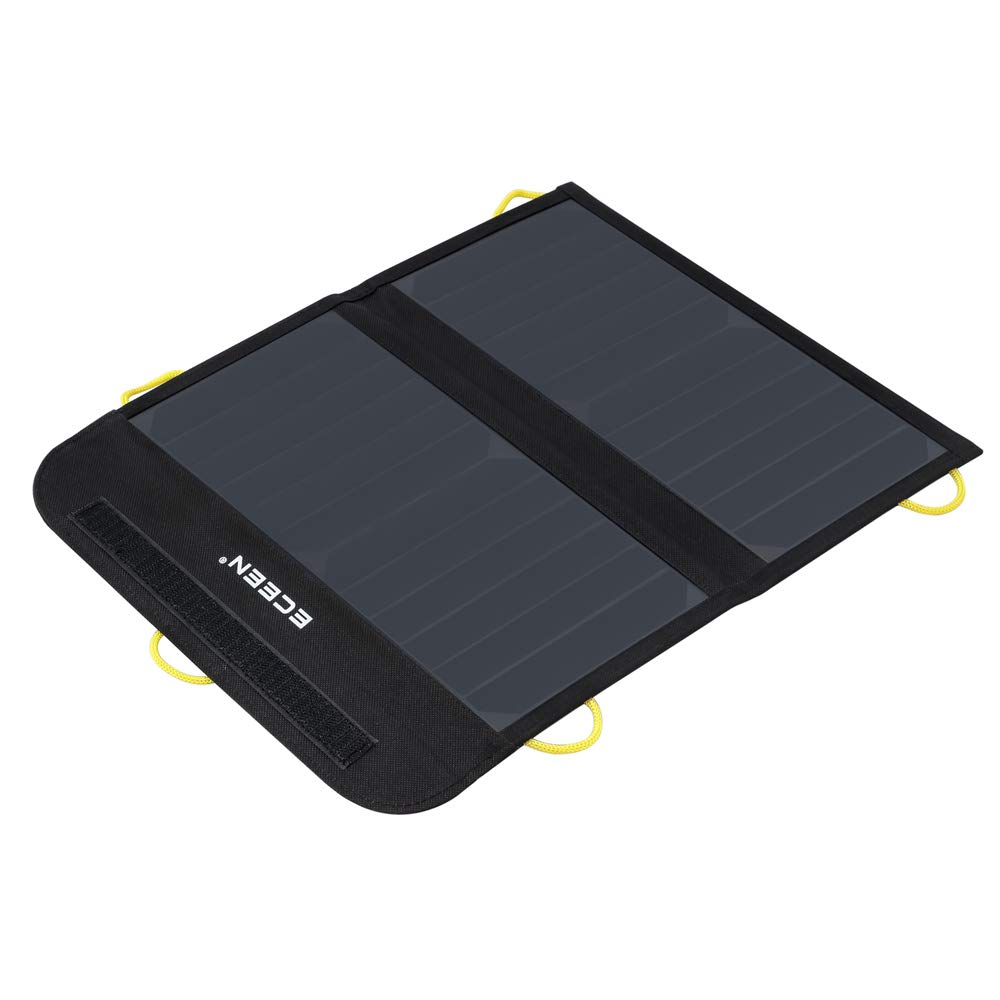 ECEEN Solar Charger Foldable Solar Panel Charge for iPhones, Smartphones, Tablets, GPS Units, Speakers, Gopro Cameras, and Other Devices (13W with Net Pocket) by ECEEN