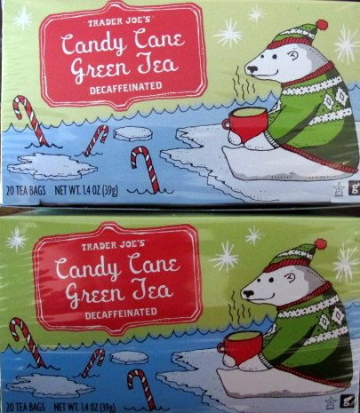 Trader Joe's Decaffeinated Candy Cane Green Tea - 20 Tea Bags - 2 Pack
