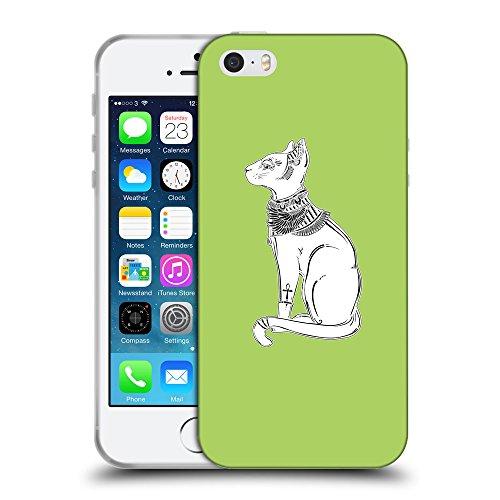 GoGoMobile Coque de Protection TPU Silicone Case pour // Q09520628 Déesse bastet 2 poule // Apple iPhone 5 5S 5G SE