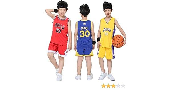 OLIS Maillots de Baloncesto para Niños - Conjunto NBA Warriors 30 ...