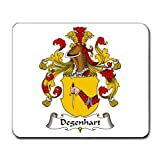 Degenhart Family Crest Coat of Arms Mouse Pad