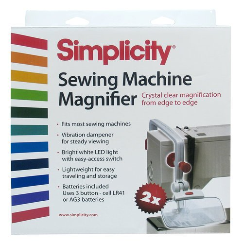 Simplicity 55501020W Sewing Machine Magnifier White