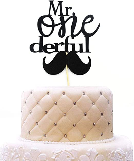 Groovy Amazon Com 1St Birthday Cake Topper Mr Onederful For One Year Funny Birthday Cards Online Aeocydamsfinfo