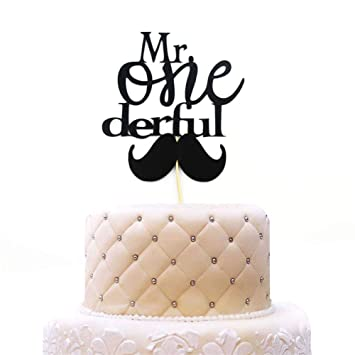 Swell 1St Birthday Cake Topper Mr Onederful For One Year Old Boy Baby Personalised Birthday Cards Veneteletsinfo