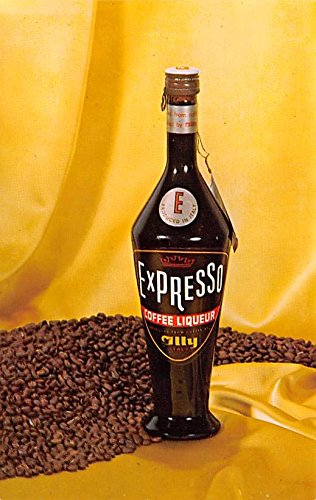 Wine and Liquor Advertising Old Vintage Antique Post Card Expresso Coffee Liqueur - Liqueur Old