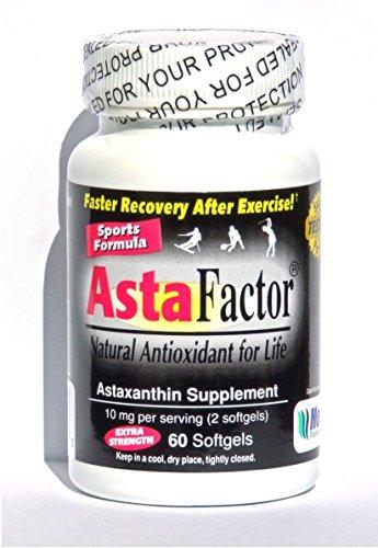 AstaFactor Sports Formula Natural Antioxidant 60 Softgels Discount