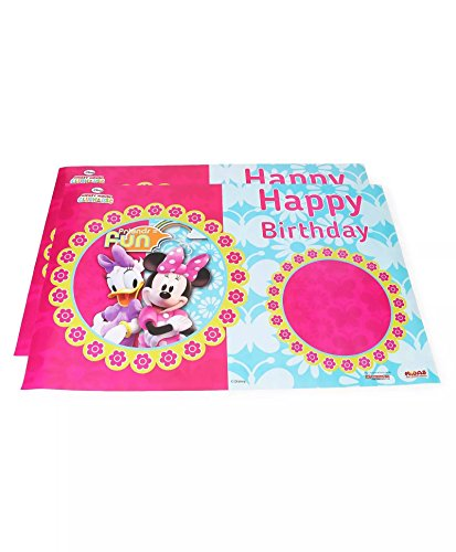 Funcart Minnie Club House Happy Birthday Paper Poster,  2pcs/Pack