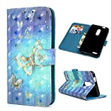 LG K10 Case, LG K30 Case, Blue Butterfly Stand Wallet Protective Card Slots Purse Holders Magnetic Luxury PU Leather Ultra-Thin Flip Folio Cover for LG K10 2018 Review