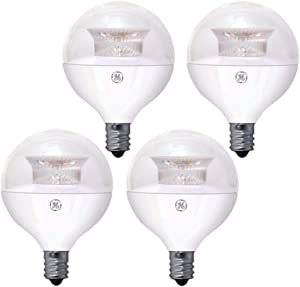 GE Dimmable Globe LED Bulb E12 Base 2700 Kelvin 40-Watt Equivalent 4-Pack