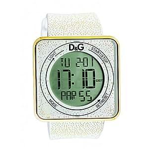 Dolce & Gabbana Dolce&Gabbana - Reloj digital de cuarzo unisex con correa de silicona, color blanco