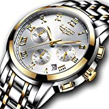 Watches Mens Full Steel Quartz Analog Wrist Watch Men Luxury Brand LIGE Waterproof Date Business Watch