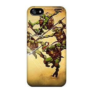 Marycase88 Iphone 5/5s Great Hard Phone Case Unique Design HD Ninja Turtles Image [rQT10905CNEc]