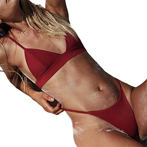 Donne Push-Up Reggiseno Imbottito Spiaggia Bikini Set Costume Da Bagno Monokini Costume Da Beachwear Set Swimwear Spiaggia Estate Pezzi Fascia Vita Alta