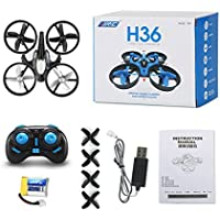 Sixsons JJRC H36 2.4G 4CH 6-Axis 3D Anti-Crush UFO RC Quadcopter Helicopter RTF Drone (Gray)