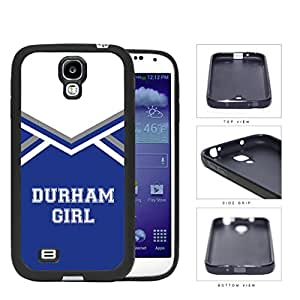 Durham City Girl School Spirit Cheerleading Uniform Samsung Galaxy S4 I9500 Rubber Silicone TPU Cell Phone Case