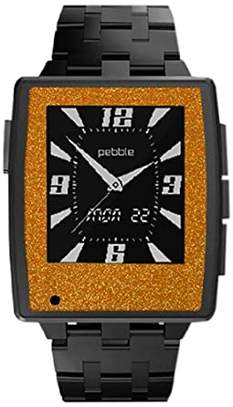 Slickwraps Wraps/Skins for Pebble Steel Smartwatch for iPhone and Android - Retail Packaging - Orange