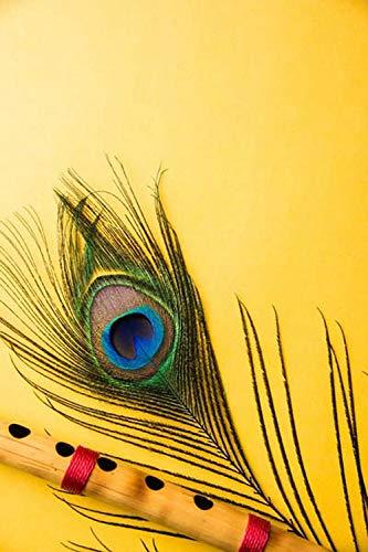 Glowvia Lord Krishna Flute Painting Digital Art Print/Size