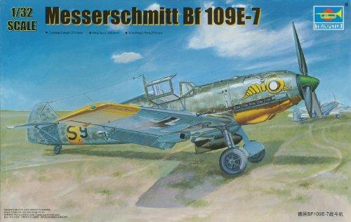 Trumpeter 1/32 Messerschmitt Bf109E7 German Fighter/Bomber Model Kit