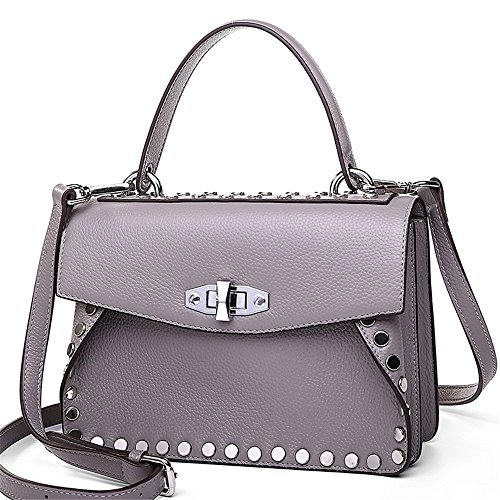 Hombro Moda Nueva GWQGZ Lady'S Verde Gray Span Handbag Inclinado Solo Remache YZAnqRxw7