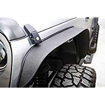 Rampage Products 867981 Black Steel Trail Flares for Jeep JK Wrangler, Set of 4