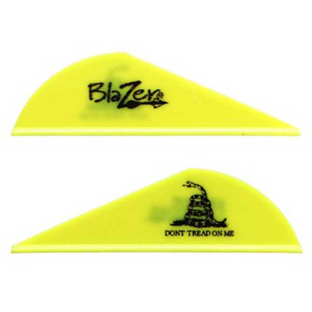 Bohning Don't Tread On Me 2'' Blazer Vanes Neon Yellow Don't Tread On Me Blazer Vane, 1000pk