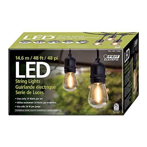 innovative design a707e 7375b Feit Electric 710090 48ft LED String Light - - Amazon.com