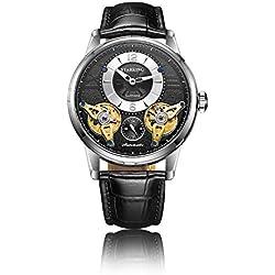 STARKING Tourbillon Automatic Watch Genuine Leather AM0222 Men Mechanical with Subdial Sapphire Luminous Hands Skeleton…
